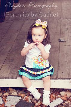 Dreamy summer or spring cupcake outfit skirt and by RockaByeBabes, $45.00