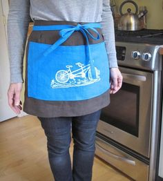 Tandem Bicycle Cafe Apron | Home Kitchen & Pantry | Sweetnature Designs | Scoutmob Shoppe | Product Detail