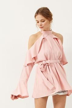 Yena Ruffle Cold Shoulder Dress Discover the latest fashion trends online at storets.com