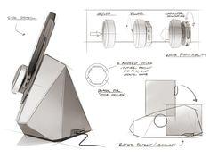 Altec Lansing Android Tablet Speaker Dock by Nelson Wah, via Behance