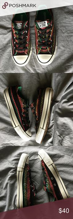 Converse NWB multi colored converse. Size 6 euro size 36.5 Converse Shoes Sneakers