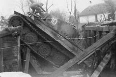 A late model Tiger 1 Ausf E was too heavy for this bridge crossing.