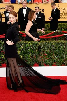 Emma Stone Is The Most Flawless Person At The SAG Awards