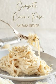 Best Pasta Dishes, Best Dishes, Good Foods To Eat, Food To Make, Other Recipes, Grandma's Recipes, Pasta Recipes, Cacio E Pepe Recipe, Rome Food