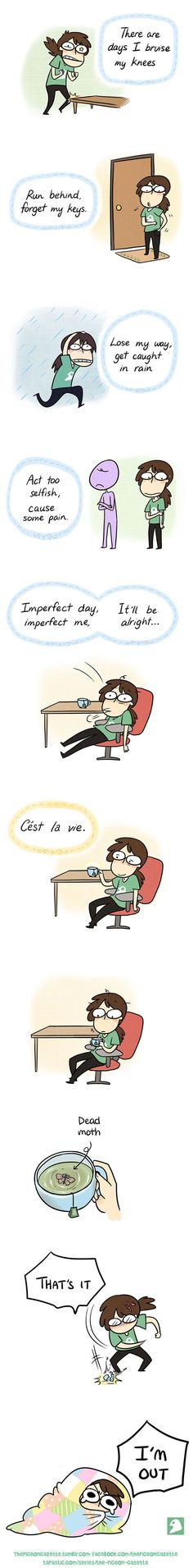 "10+ Hilarious Comics For Socially Awkward People @Warriorcatslove- ""C'est la vie It is the life You're welcome non French speaking people"""