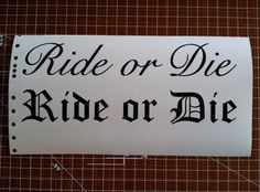 Fast and furious ride or die family tattoos for Ride or die tattoo