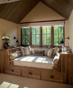 Window seat 25 cozy interior design and decor ideas for reading nooks cozy nook, cozy Cozy Nook, Cozy Corner, Corner Bench, Cozy Den, Home And Deco, My New Room, Home Fashion, My Dream Home, Dream House Plans