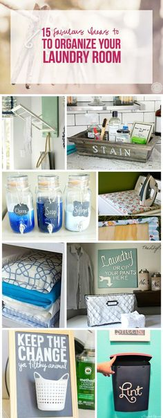 15 Fabulous Ideas to Organize your Laundry Room - Happily Ever After, Etc.