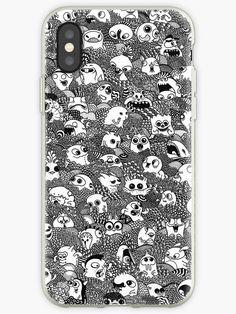 'Doodle Monsters' iPhone Case by Rockyvillaruel Hand Doodles, Simple Doodles, Doodles Zentangles, Doodle Monster, Cool Iphone Cases, Iphone Case Covers, Iphone 8, Corgi Phone Case, Iphone Backrounds