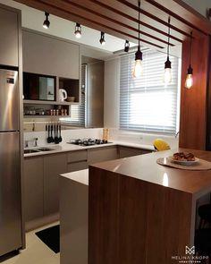 Cozinha compacta e linda! Amei! - Projeto Melina Knopp Arquitetura - |Me acompanhe também no @pontodecor e @maisdecor_ -…