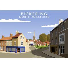 'Pickering' Graphic Art East Urban Home Format: No Frame, Size: 40 cm H x 50 cm W x 1 cm D Painting Prints, Fine Art Prints, Canvas Prints, Vintage Travel Posters, Retro Posters, Poster Vintage, Railway Posters, North Yorkshire, State Art