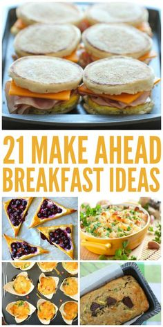 21 Make Ahead Breakfast Ideas