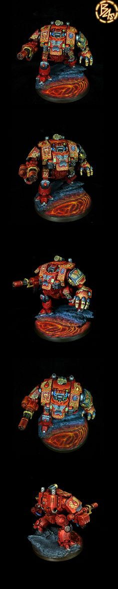 blood angle Back Primaris Redemptor Dreadnought