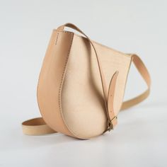 Natural Leather Shoulder Bag - Slouchy Crossbody Bag - Soft Pebbled Leather Bag