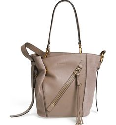 Main Image - Chloé Small Myer Double Carry Calfskin Leather & Suede Tote