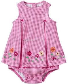 Best 12 Floral gingham sun suit…would be nice to embroider this – SkillOfKing. Girls Frock Design, Baby Dress Design, Baby Girl Dress Patterns, Frocks For Girls, Little Girl Dresses, Girls Dresses, Baby Dresses, Girl Skirts, Midi Dresses