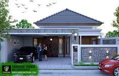Flat House Design, House Front Design, Minimalist House Design, Dream Home Design, Minimalist Home, Modern House Design, Modern Bungalow House, Home Exterior Makeover, 3d Home