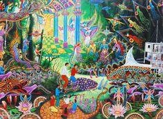 Pablo Amaringo y la mística amazónica en sus pinturas.