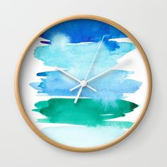 Buy Ocean Washes Wall Clock by susanbrand. Worldwide shipping available at Society6.com. Just one of millions of high quality products available.