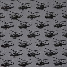 grey ni-co helicopter canvas echino fabric from Japan