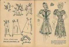php 640 × 442 pixels Doll Patterns, Vintage Patterns, Clothing Patterns, Vintage Sewing, Sewing Patterns, 40s Fashion, Fashion Sewing, Big Shoulders, Period Outfit