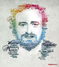 Create a Typographic Portrait In Adobe Photoshop - Pavarotti  http://youtu.be/j3FTE7d9GdQ
