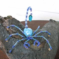 All beaded bugs are made from glass beads.