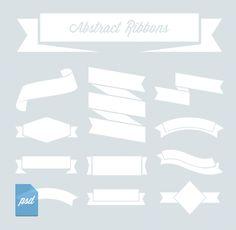 Abstract Ribbons (Psd & Vector) Check more at https://www.bazaardesigns.com/free-ribbon-banner/