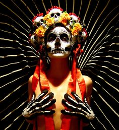 Day of the Dead Headdress - Made to Order. $350.00, via Etsy.