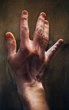 """ARTIST: Javier Arizabalo ~ """"Mano"""" (oil on canvas)"""