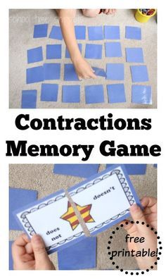 Printed for OS Classroom Fun grammar game introducing contractions! Play a game or two of this Superhero themed Contractions Memory Game! Esl Games, Grammar Games, Good Grammar, Spelling Activities, English Activities, Language Activities, Literacy Activities, Fun English Games, Language Arts Games