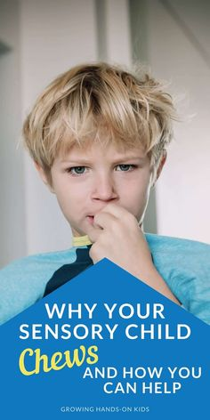 Why is your sensory child chewing all the time and on everything? Find solutions and strategies for sensory children who chew. #SPD #SensoryIsReal #SensoryProcessing #SensoryProcessingDisorder #Autism #AutismSpectrum #OccupationalTherapy #SensorySeekers #OralSensorySeekers Proprioceptive Activities, Sensory Activities, Therapy Activities, Sensory Processing Disorder Symptoms, Sensory Disorder, Physical Therapy Exercises, Pediatric Physical Therapy, Occupational Therapy Assistant, Sensory Issues
