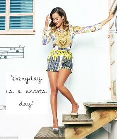 """""""Everyday is a shorts day"""" Caroline Flack playsuit Caroline Flack, Tv Girls, Summer Prints, Dress Outfits, Party Outfits, Dresses, All About Fashion, Playsuits, Dress Me Up"""