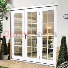 Nuvu White 8 Pane Exterior French Doors with Side Frame Right Fully Decorated  sc 1 st  Pinterest & Ashworth(R) Patio Door with Venting Sidelites by Woodgrain ... pezcame.com