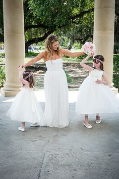 Flower girl and bridesmaid dresses by Gilly Gray