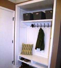 Delicieux Hall Closet Mudroom DIY Hallway Closet, Closet Mudroom, Front Closet, Closet  Space,