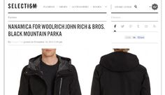 Nanamica per #Woolrich John Rich & Bros su @Selectism: black mountain parka. Cool! #fashion #style