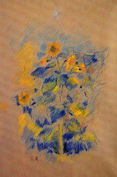 Berthe Morisot Sunflowers Art Print Poster Sports Poster - 33 x 48 cm Klimt, Berthe Morisot, Canvas Online, Sunflower Art, French Art, Word Art, Original Art, Sketches, Sunflowers