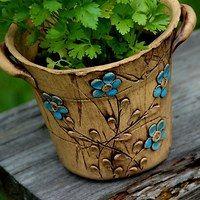 Zboží prodejce lavender / Zboží | Fler.cz Pottery Studio, Pottery Clay, Clay Wall Art, Vases, Planter Pots, Mosaic, Lavender, Sculpture, Clay Ideas