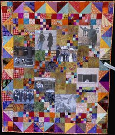 Quilt I made for Quilt Sitters 2010 exhibition from images taken in Rome September 2009.