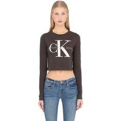 Calvin Klein Jeans Women True Icon Cropped Long Sleeve T-shirt