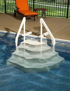 above ground pool stairs new pool pinterest ground pools backyard and decking