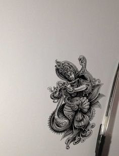 Krishna by Bennett-Klein on DeviantArt Realistic Pencil Drawings, Pencil Art Drawings, Cool Art Drawings, Art Drawings Sketches, Mandala Drawing, Mandala Art, Watercolor Mandala, Mandala Design, Krishna Art