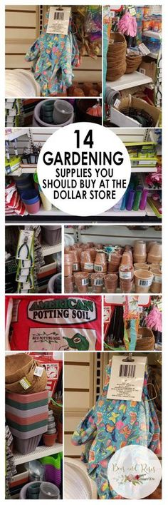 Gardening, Gardening Supplies, Inexpensive Gardening Supplies, Where to Find Inexpensive Gardening Tools, Cheap Gardening Supplies, Tips for Gardeners, Gardening Tips and Tricks, Popular Gardening Pins, Dollar Store Tips, Things to Buy At the Dollar Store