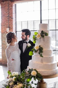 Industrial Meets Modern Style in this Birmingham Shoot Wedding Couple Pictures, Wedding Couples, Wedding Gifts, Wedding Day, Green Wedding, Wedding Colors, Beautiful Cakes, Birmingham, Wedding Accessories
