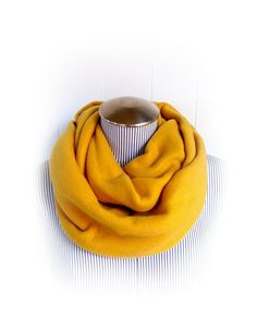 For sale is one Mustard Yellow Fleece Infinity scarf (one long loop). 10 inches wide (20 inch circumference), 58 inch loop. This super warm