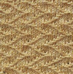 De jacquard steek is een mooie structuursteek die je maakt door afgehaalde steken.