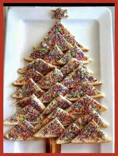 Fairy bread Christmas tree