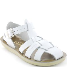 Saltwater Sandals Sharks in White