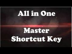 Excel Master-shortcut key - All in One
